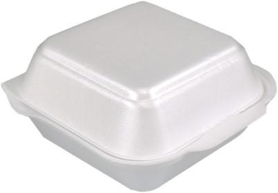 Hamburgerbak EPS wit 135x135x70 mm,  4x125st