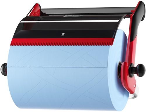 Tork Poetspapier Wand Dispenser, Zwart/Rood