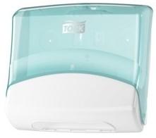Tork Gevouwen reinigingsdoeken Dispenser, Turqoise/Wit