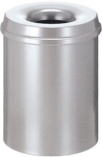 Vlamdovende papierbak, 15 L, Zilver