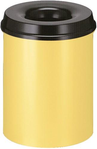 Vlamdovende papierbak, 15 L, Geel / Zwart