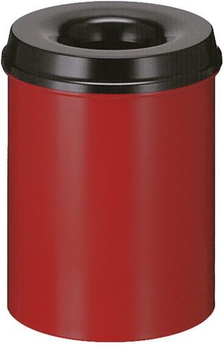 Vlamdovende papierbak, 15 L, Rood / Zwart