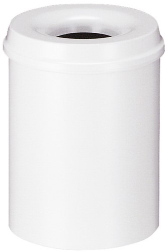 Vlamdovende papierbak, 15 L, Wit