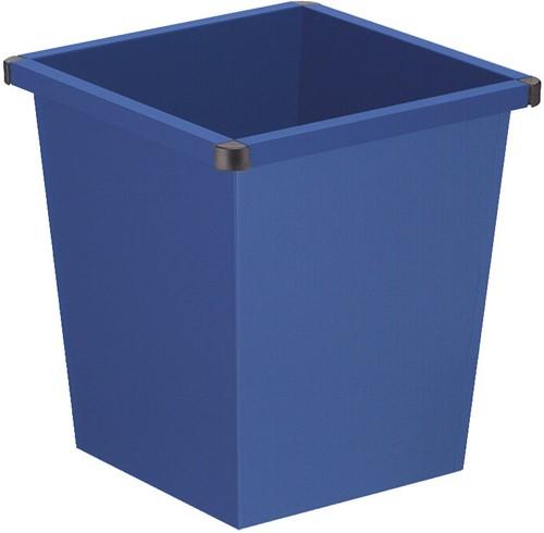 Vierkant Tapse Papierbak, 27 L, Blauw
