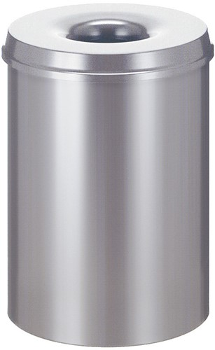 Vlamdovende papierbak, 30 L, Zilver
