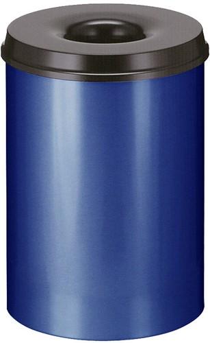 Vlamdovende papierbak, 30 L, Blauw