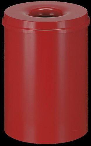 Vlamdovende papierbak, 30 L, Rood