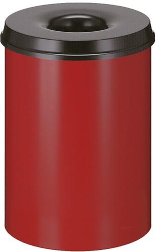 Vlamdovende papierbak, 30 L, Rood / Zwart