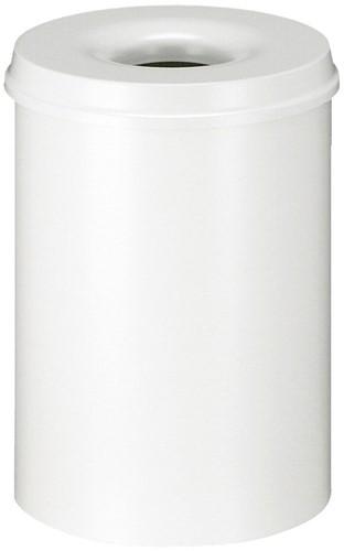 Vlamdovende papierbak, 30 L, Wit