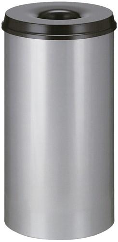 Vlamdovende papierbak, 50 L, Grijs / Zwart