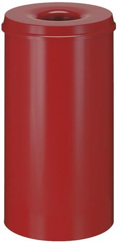 Vlamdovende papierbak, 50 L, Rood