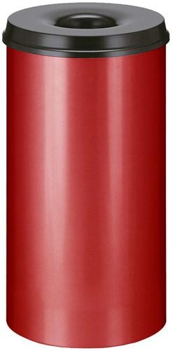 Vlamdovende papierbak, 50 L, Rood / Zwart