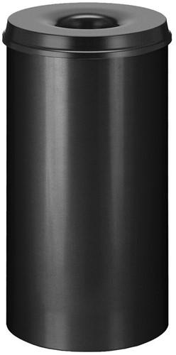 Vlamdovende papierbak, 50 L, Zwart