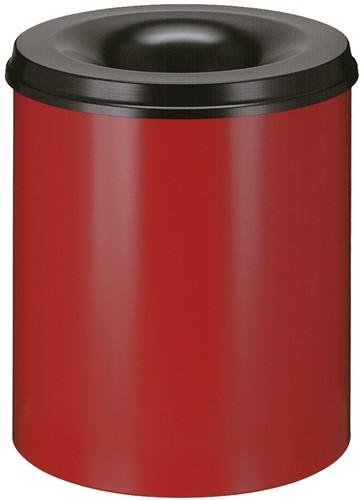 Vlamdovende papierbak, 80 L, Rood / Zwart