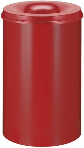 Vlamdovende papierbak, 110 L, Rood