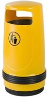 Merlin UV-bestendige Afvalbak, Geel, 90 L