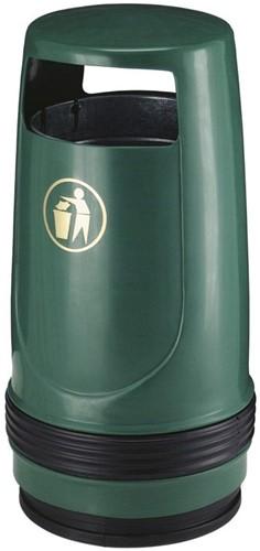 Merlin UV-bestendige Afvalbak, Groen, 90 L