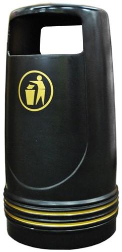 Merlin UV-bestendige Afvalbak, Zwart, 90 L