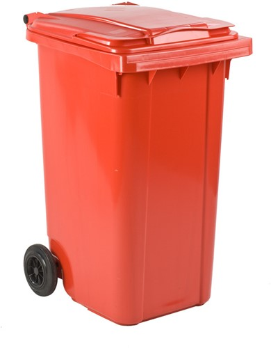 Mini-container, 240 L, Rood