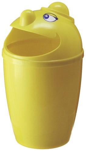 Afvalbak met gezicht, 75 L, Geel
