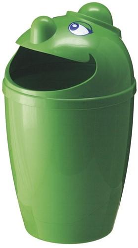 Afvalbak met gezicht, 75 L, Groen-2