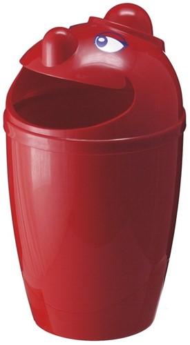 Afvalbak met gezicht, 75 L, Rood
