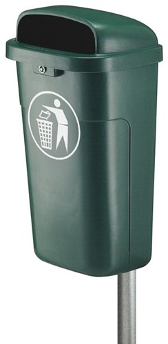 Vuurbestendige Afvalbak 50 L, Groen