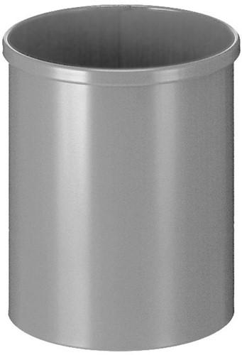 Ronde Papierbak, 15 L, Metaal aluminium