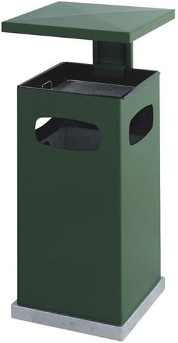 As-papierbak met afneembaar afdak, 70L, Groen