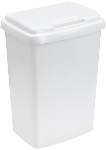 Top-fix Kunststof Afvalbak, Wit, 50 L