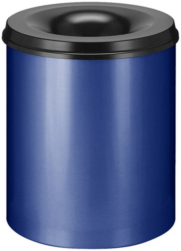 Vlamdovende papierbak, 80 L, Blauw / Zwart