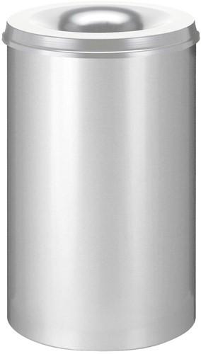 Vlamdovende papierbak, 110 L, Zilver