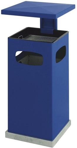 As-papierbak met afneembaar afdak, 70L, Blauw