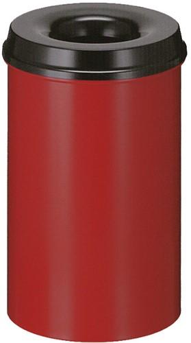 Vlamdovende papierbak, 20 L, Rood / Zwart