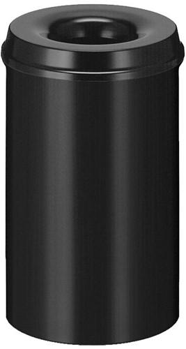 Vlamdovende papierbak, 20 L, Zwart