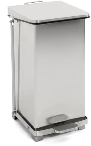 Industriële pedaalemmer, 45 L, Mat / RVS