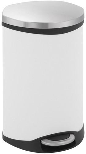 EKO Shell Bin Pedaalemmer, Wit, 18 L