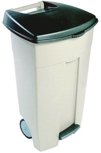 Rubbermaid Eco Step-On Container, 106 L, Beige