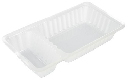 Plastic Bak Frites A23 (A7+1) wit,met vak 170x95x33 mm