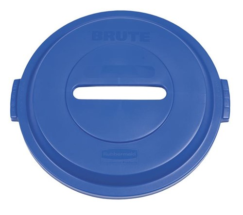 Rubbermaid Ronde Brute Container Deksel, 121,1 L, Blauw