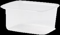 Plastic Transparante Saladebakje, 250cc 108x50mm