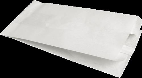 Papieren Snackzak 1 Pond, 14/8 x 25.5 cm Blanco,