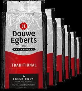 Douwe Egberts Fresh Brew Koffie Tray, 6 x 1 kg