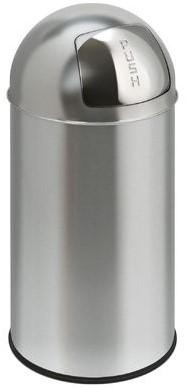 EKO Pushcan, 40 L, mat RVS