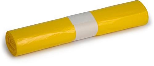HDPE Afvalzakken, 140L, 80x110 cm, T25, Geel