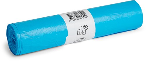 LDPE Afvalzakken, 120L, 80x100 cm, T60, Blauw