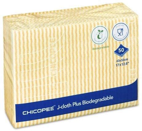 Chicopee 74441 J-Cloth Plus Biodegradable, 43 x 32 cm Geel