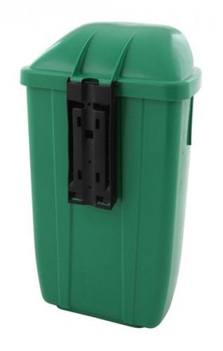 Kunststof Afvalbak buiten h74, Groen 50 L-2
