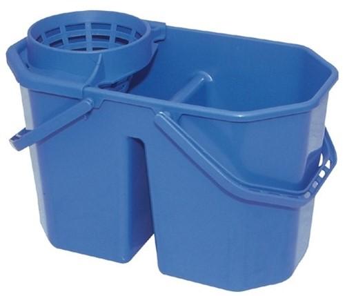 Gejoma Spaanse Mopemmer Dubbel Incl. zeef blauw