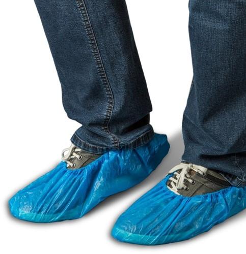 Gejoma CPE Schoenovertrekken 16 X41cm, Blauw/wit 20 x 50 st